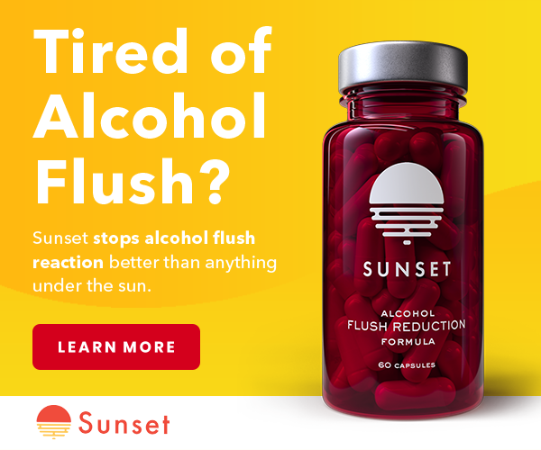 Stop Flushing with Sunset Alcohol Flush Support