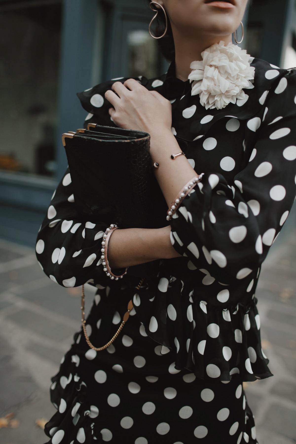 Gucci polka dot cocktail dress