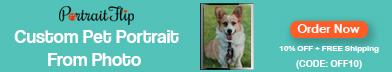 Dog Oil Portrait 450x200