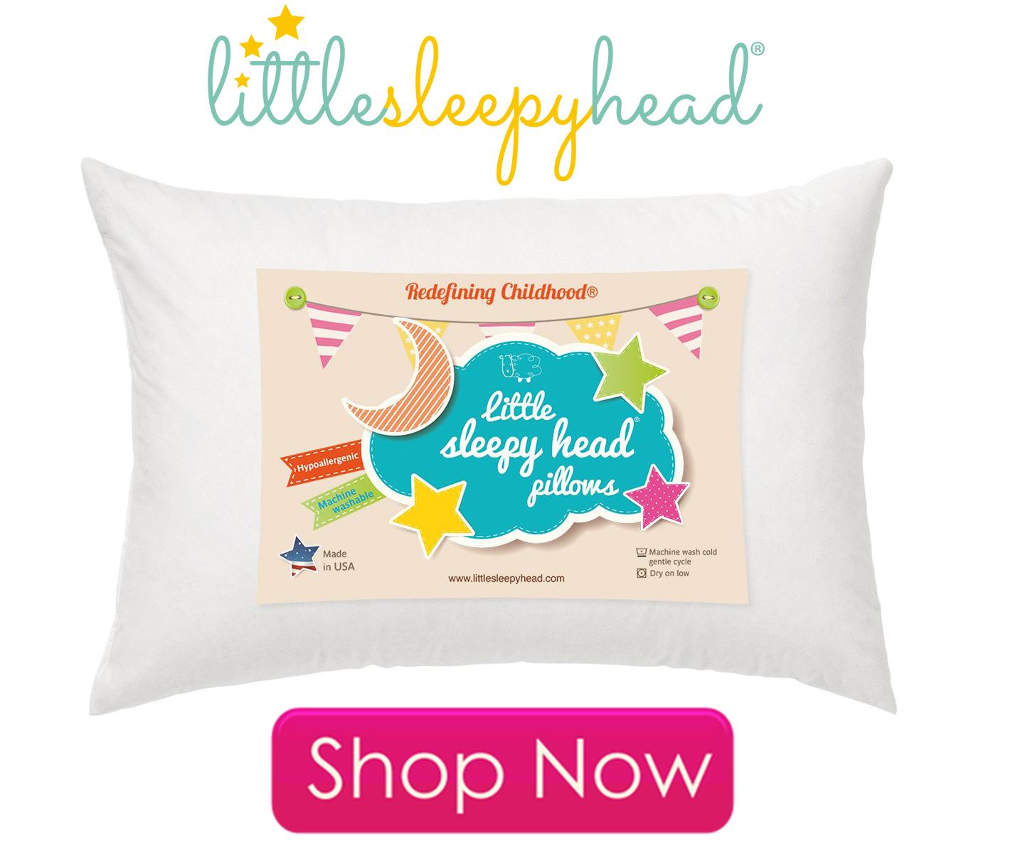 Little Sleepy Head Toddler Pillow