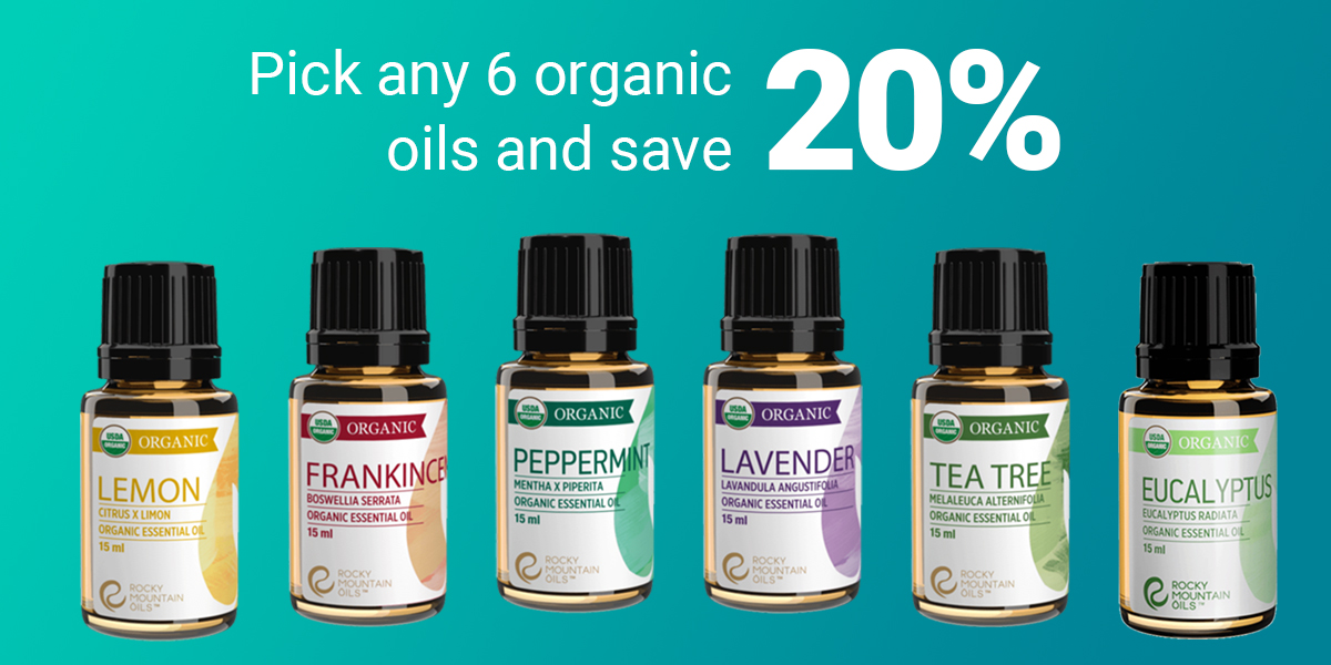 Pick 6 Organic Oils Save 20%