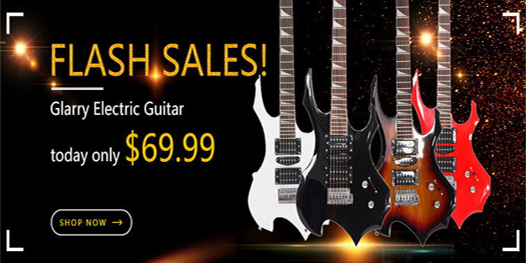 Glarry electric guitar with preferential prices, quality products to win more people favor.
