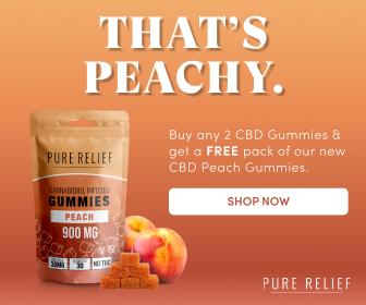 New Pure CBD Peach Gummies