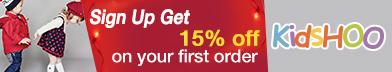 KidsHOO Sign up Get 15% OFF