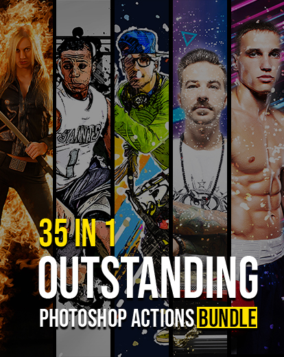 35 In 1 Outstanding Photoshop Actions Bundle