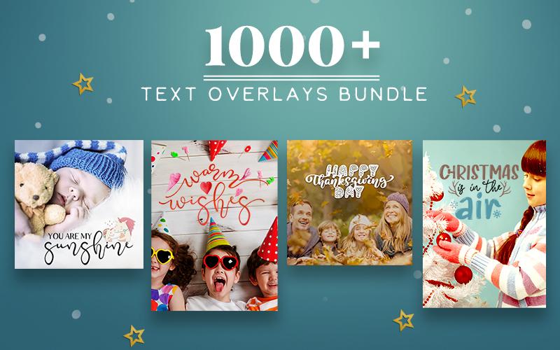1000+Text Overlays Bundle
