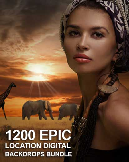 1200 Epic Location Digital Backgrounds Bundle