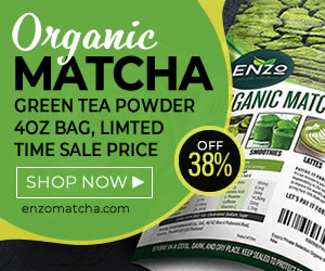 Organic Matcha Banner 300x250