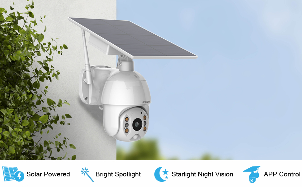 Soliom S600 Pan Tilt Outdoor Security Camera