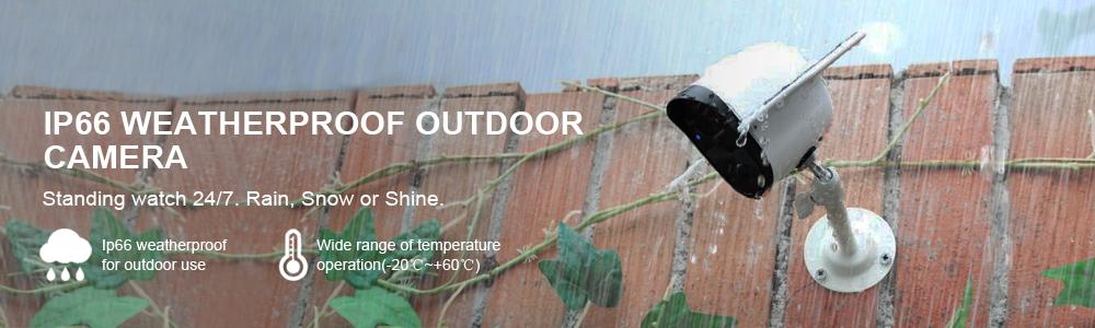 Weatherproof Outdoor Solar Security Camera