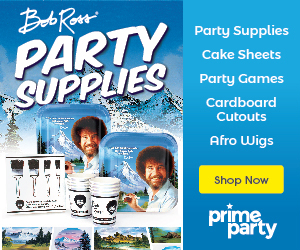 Bob Ross Party Supplies