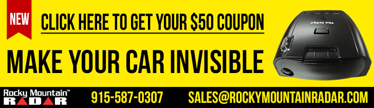 $50 off radar detector. Make Your Car Invisible