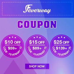 Whole Site $10/15/25/ Off at Feverway.com!