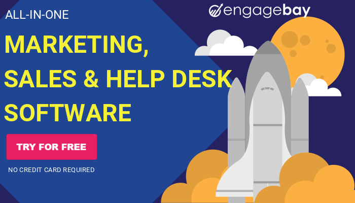 All-in-one marketing, sales & help desk software