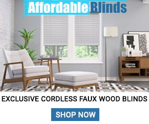 Exclusive Cordless Faux Wood Blinds