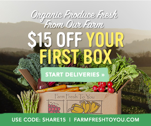 $15 Off First Box of Produce by Farm Fresh To You