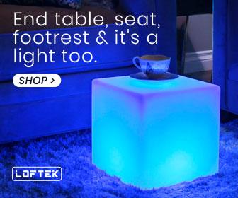 LOFTEK LED RGB Cube Table