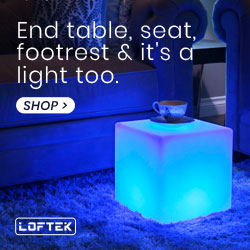 LOFTEK LED RGB Cube Table