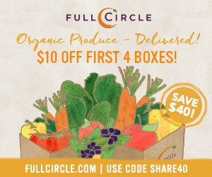 $10 Off Your First 4 Produce Boxes! Use code: SHARE40