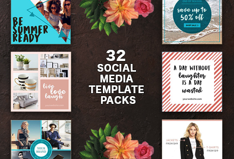 Ace Your Branding Game With 245 Social Media Templates | Commercial License