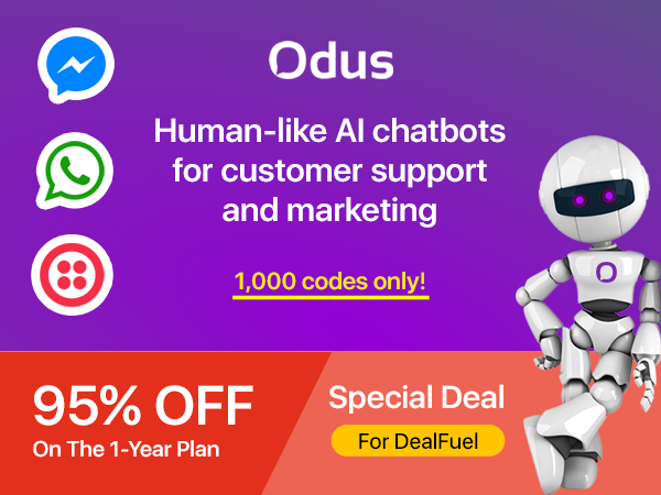 Odus AI Chatbots For Human-Like Assistance – 1 Year Plan | Limited Time Offer