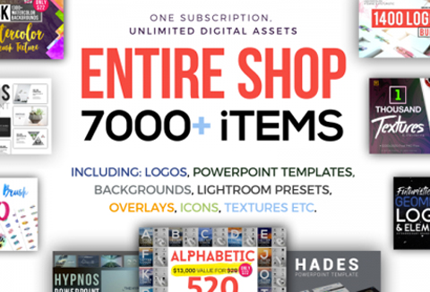 Get Lifetime Access To The Entire Shop With 7000+ Graphics Items