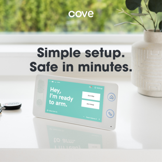 Cove Security Panel on Counter