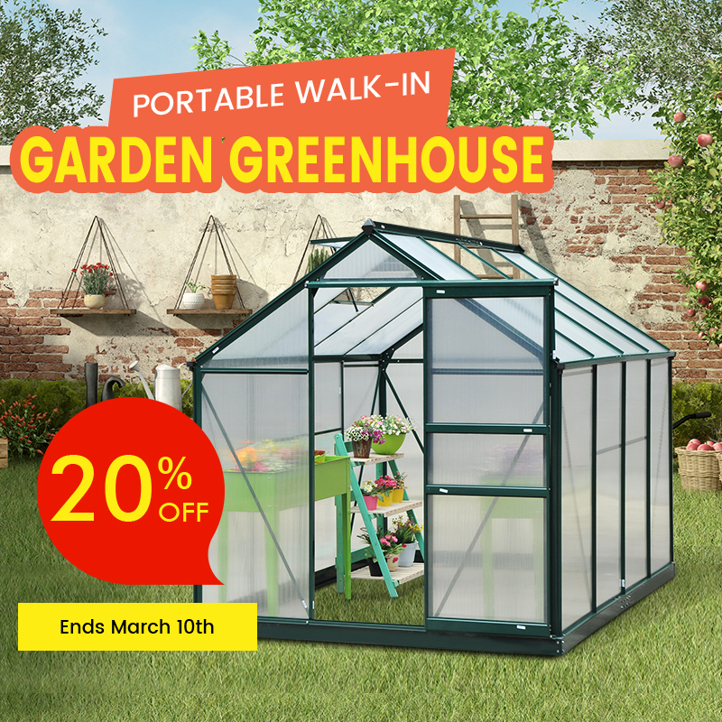 20% off greenhouse price drop banner