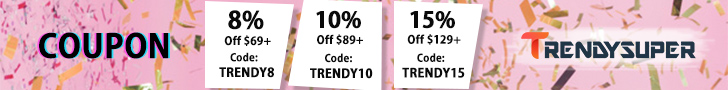 8% Off, 10% Off, 15% Off Coupon at Trendysuper.com