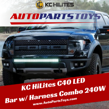 Shop KC HiLites C40 LED Bar w/ Harness Combo 240W at Autopartstoys.com