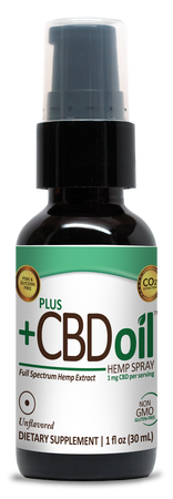 Harness your human potential with Plus CBD Oil Extra Virgin Olive Oil Spray
