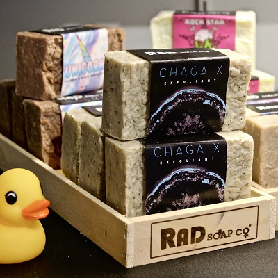 Handmade, vegan, all-natural soap bars by RAD Soap Co