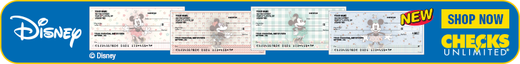 Vintage Minnie Mouse checks at Checks Unlimited