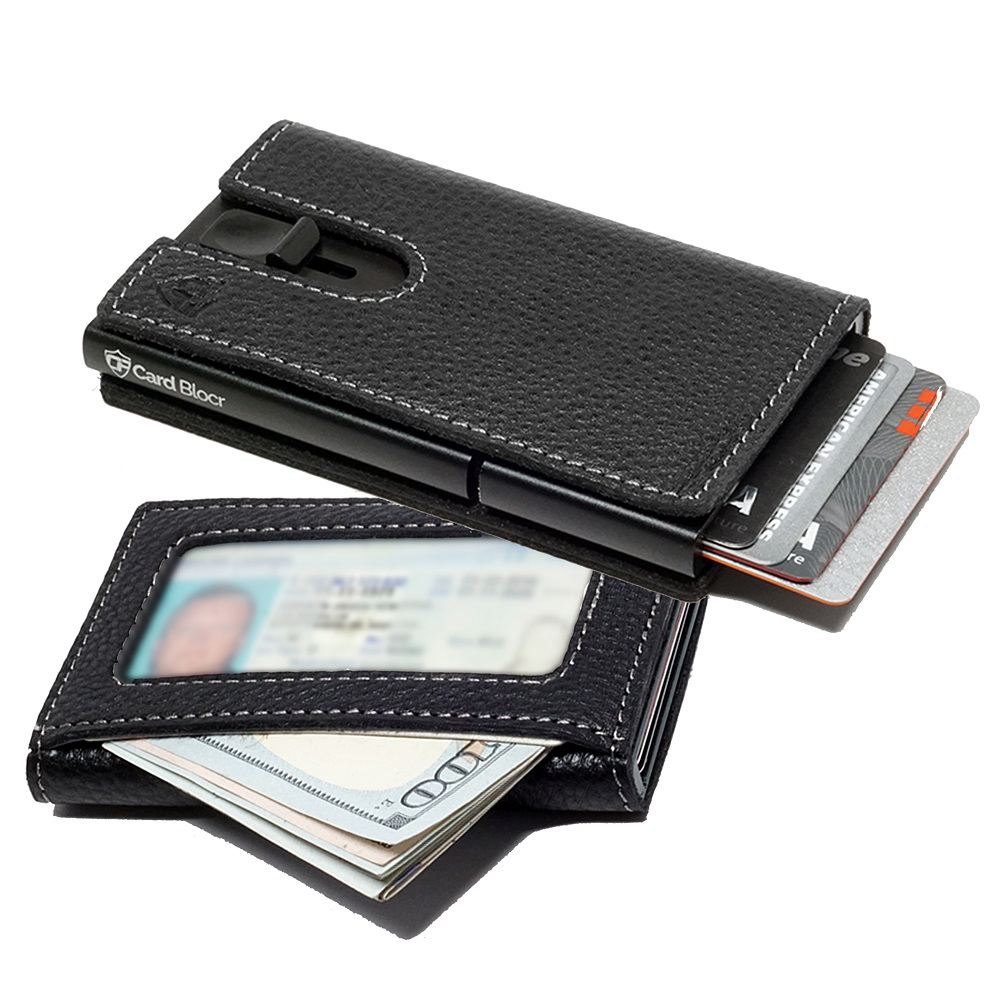 Card Blocr Leather Wrapped Credit Card Holder