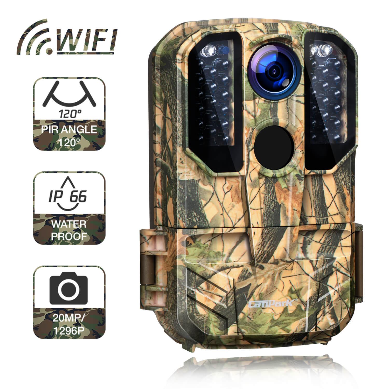 Campark T75 WiFi Trail Camera 20MP 1296P Remote Control Hunting Game Camera