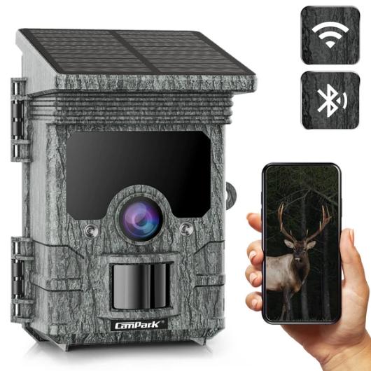Campark T150 Solar Powered WiFi Bluetooth Trail Camera 2K 24MP