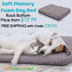 Hot Sale! Soft Memory Foam Dog Bed Start from $19.99 Plus Free Shipping! Code CRAFS.