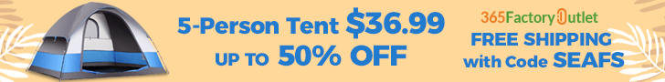 Hot Sale! 5 Person Tent Up to 50% Off! Free Shipping with Code SEAFS!