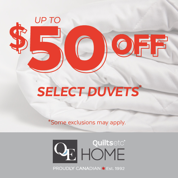 up to $50 duvet sale