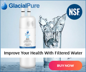 GlacialPure Refrigerator Water Filter for Whirlpool Filter 1 EDR1RXD1 W10295370 2 Packs