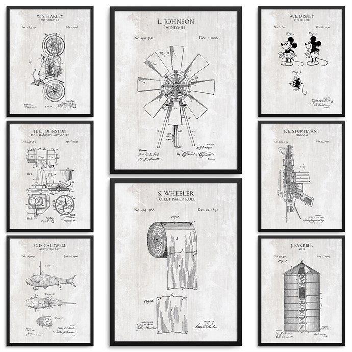 Farmhouse Patent Prints