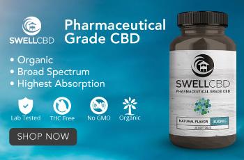 Ultra Premium CBD Oil / THC FREE / 100% Organic / USA Grown - Visit SwellCBD.com
