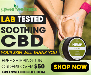 Your Skin Will Thank You! Shop Lab Tested Soothing CBD From Green Wellness! Free Shipping on Orders Over $50!