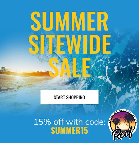 Save 15% at Reef CBD with code Summer15