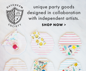 Daydream Society | Unique party goods designed in collaboration with independent artists.