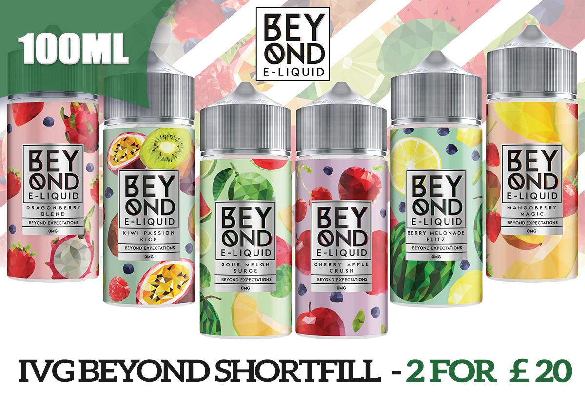 2602 - 2 for £20 - IVG Beyond Range E-liquid 100ML