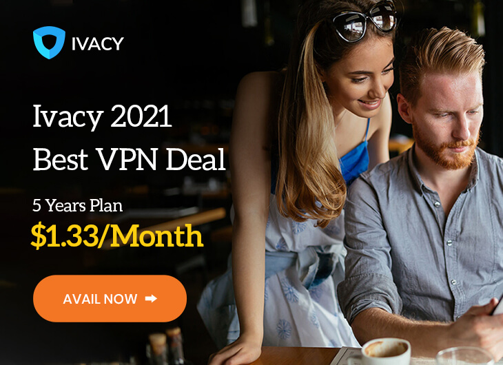 Ivacy 5 Year VPN Plan (10-Devices)