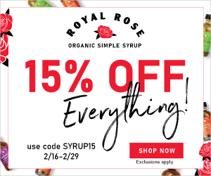 Save 15% on Everything at Royal Rose with code SYRUP15! (valid 2/16/20 - 2/29/20)
