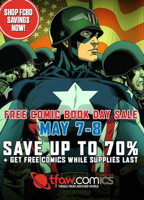Free Comic Book Day Sale at TFAW - Save up to 70% and get free comics while supplies last