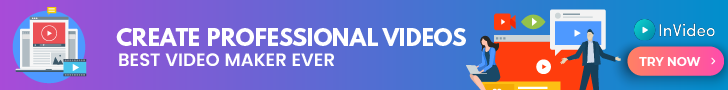 InVideo create professional videos banner